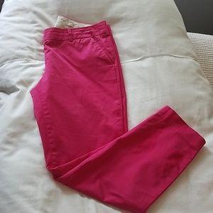 Bright pink J Crew capris